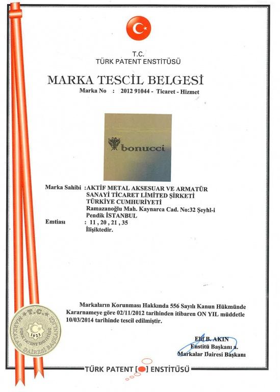 Bonucci Marka Tescil Belgesi